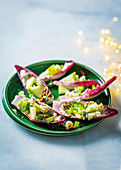 Endive salad with remoulade and nut sprinkle