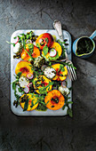 Honeyed stone fruit and goat's cheese salad