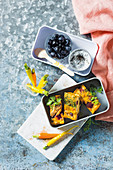 The diabetes friendly lunch box with frittata