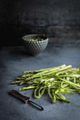 Shaved asparagus