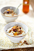 Yogurt with muesli