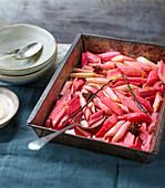 Rhubarb Tray Bake
