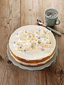 Geburtstags-Torte mit Käsesahne