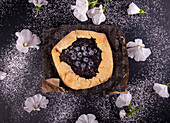 Summer galette with blueberries