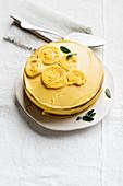 Chestnut cake with pumpkin buttercream