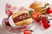 Sloppy Joe (minced meat and tomato sandwich, USA)