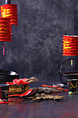 Lunar New Year utensils and decoration