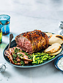 Roast lamb with gremolata