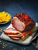 Retro pineapple-and cherry-studded gammon