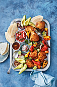 Corona braised chicken with pico de gallo