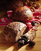 Dried pear bread with nuts, Hutzeln (dried pears) and other dried fruit