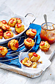 Tomato Chutney and Ham Muffins