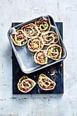 Loaded Pepperoni Pizza Scrolls