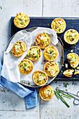 Chicken, Corn and Chive Mini Quiches
