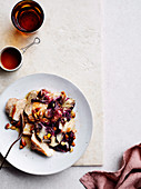 Pork loin with radicchio, almonds and sherry vinegar
