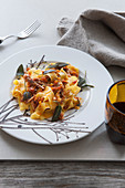 Pappardelle sull'anatra (pappardelle with duck sauce, Italy)