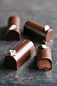 Caramel and sea salt chocolates