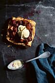 Rhubarb Tarts with Soured Ice-Cream