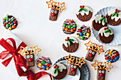 Easy Christmas biscuits - Reindeer, pudding and bauble biscuits