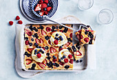 Berry buttermilk tray bake pancake