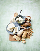 Vollwertprodukte: Tofu, Seitan, Texturiertes Soja, Tempeh und Seitan-Fix Pulver