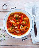 Seitan and pepper stew