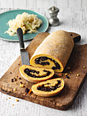Potato roll with 'Öcher Puffes' – Aachen black pudding