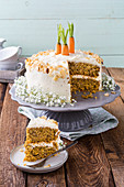 Carrot Cake mit Haselnüssen (Low Carb)