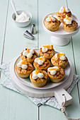 Ricotta muffins with oranges and almonds (low carb)