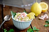 Shrimp butter with lemons