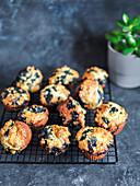 Homemade vegan blueberry muffins