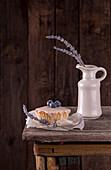 Muffin mit Heidelbeeren und Lavendel