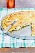 Spanakopita with feta cheese (Greece)