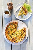 Zucchini-Blauschimmelkäse-Tarte