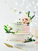 Easiest-ever floral wedding cake with buttercream