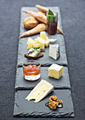 Cheese plates with chutney