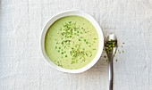 Coconut and pea soup