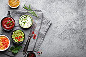 Making healthy green vegan guacamole sauce