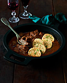 Classic goulash with dumplings