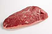 Raw beef with a fat edge