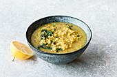 Shorbat Adas lentil soup