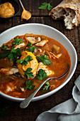 Tomato and Tarakihi Fish Soup