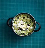 Feta and olive purée