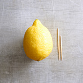 A dash of lemon juice – insert toothpicks into a lemon and squeez