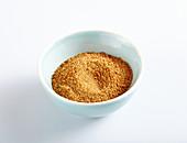 Coconut blossom sugar in a bowl
