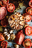 Roasted garlic and tomatoes