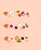 Zutaten für Falafel-Kombis - klassisch, Rote Bete und Süßkartoffeln