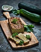 Vegetarian zucchini pate