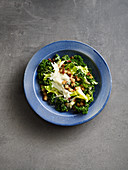 Caesar salad made with kale, endives and anchovies