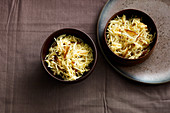 Oriental parsley root coleslaw